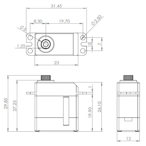 MKS DS95i 760µs System Tail Servo S0017002